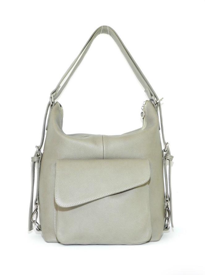 Бежевая сумка-рюкзак без бренда
