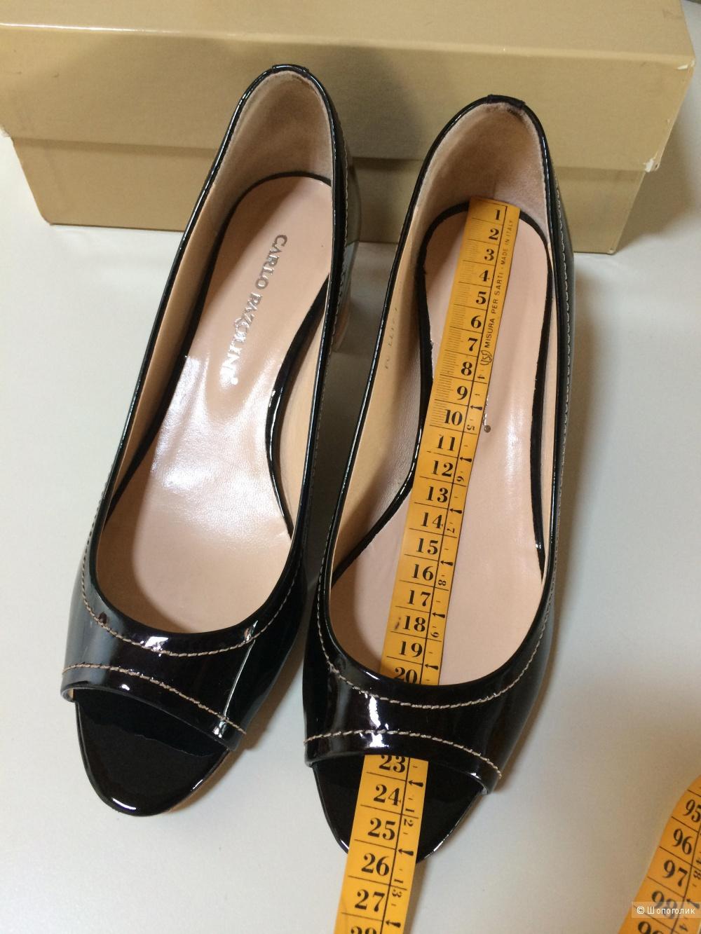 Чёрные туфли  Carlo Pazolini, размер 38-39