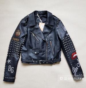 Кожаная куртка NoName размер 36 (XS)