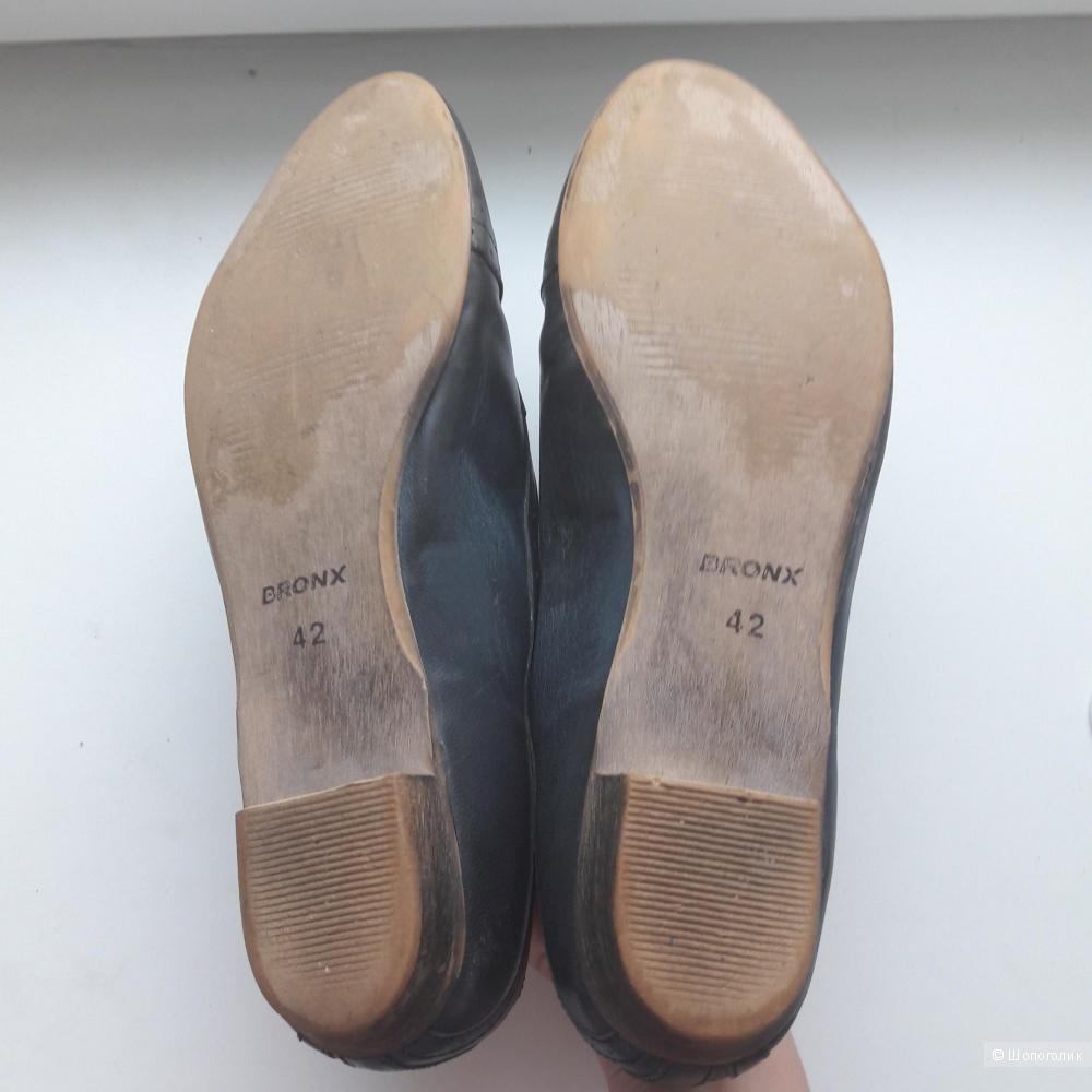 Кожаные туфли Bronx 41 размера