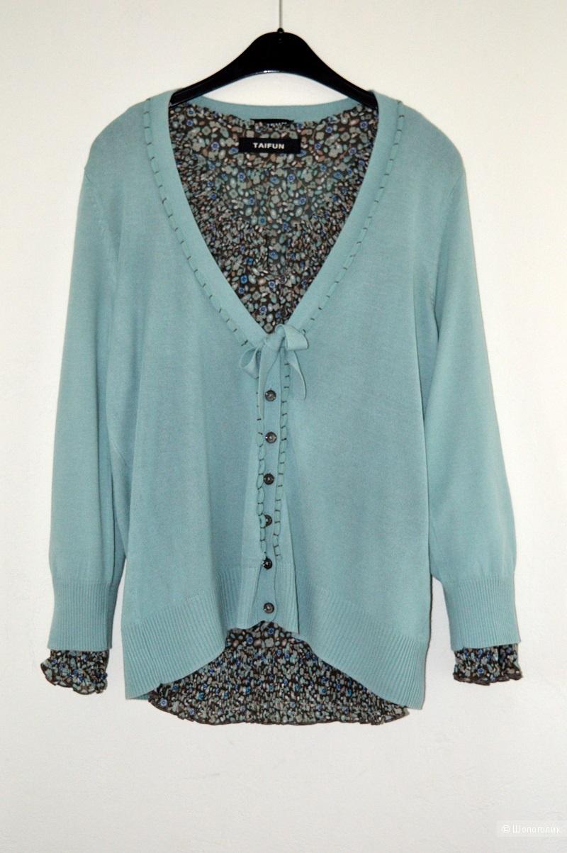 Сет  , блуза + кардиган  ,ТAIFUN , размер 42-44.