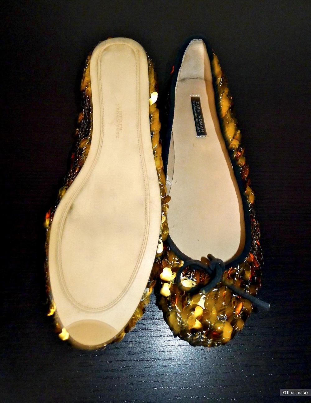 Балетки туфли zara women размер 38 на 37
