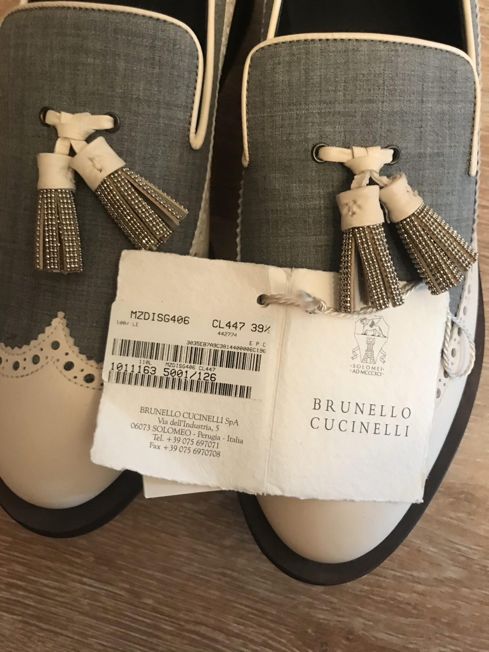 Туфли Brunello Cucinelli размер 39,5