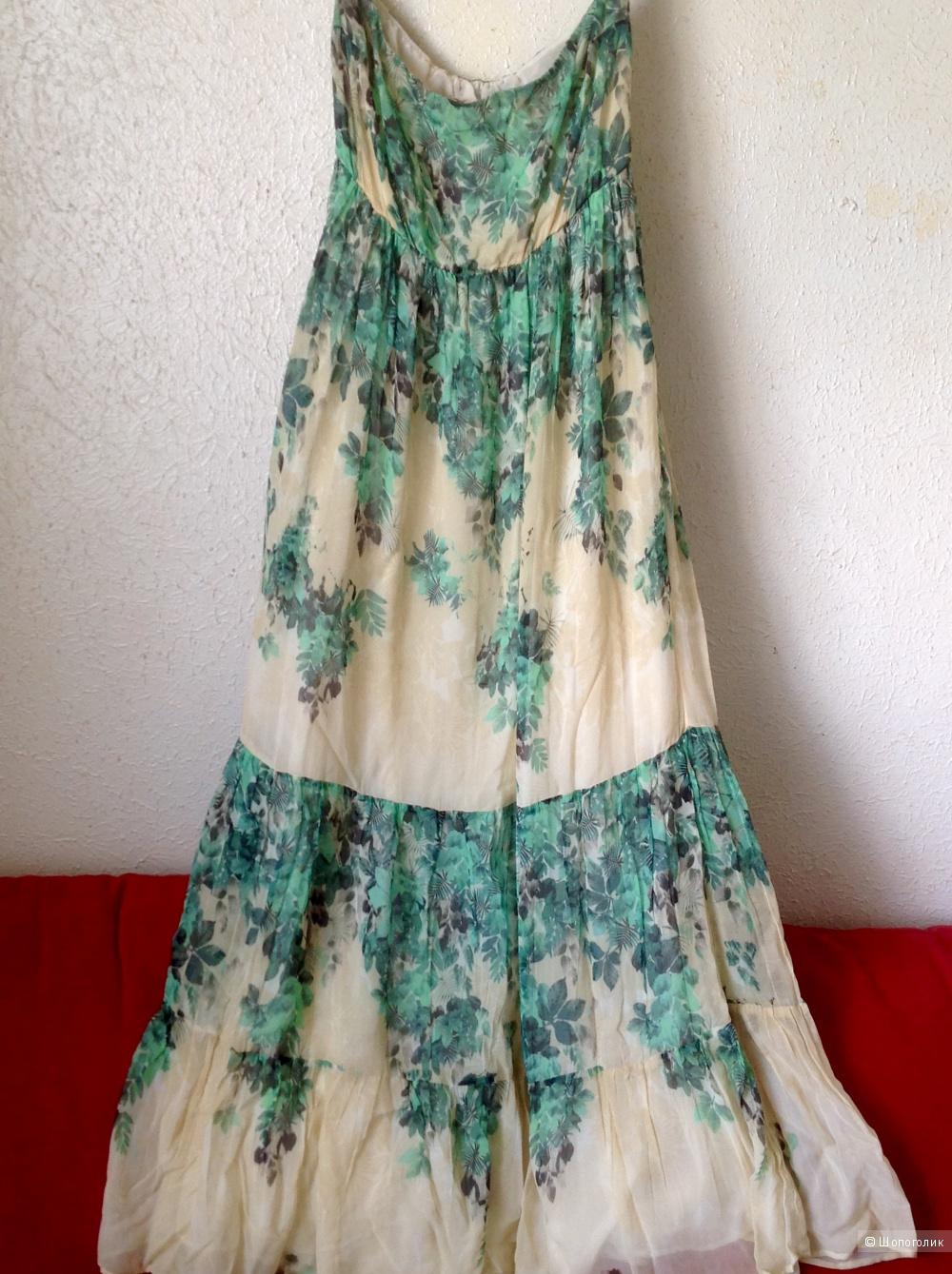 SPACE Итальянское платье -сарафан размер М