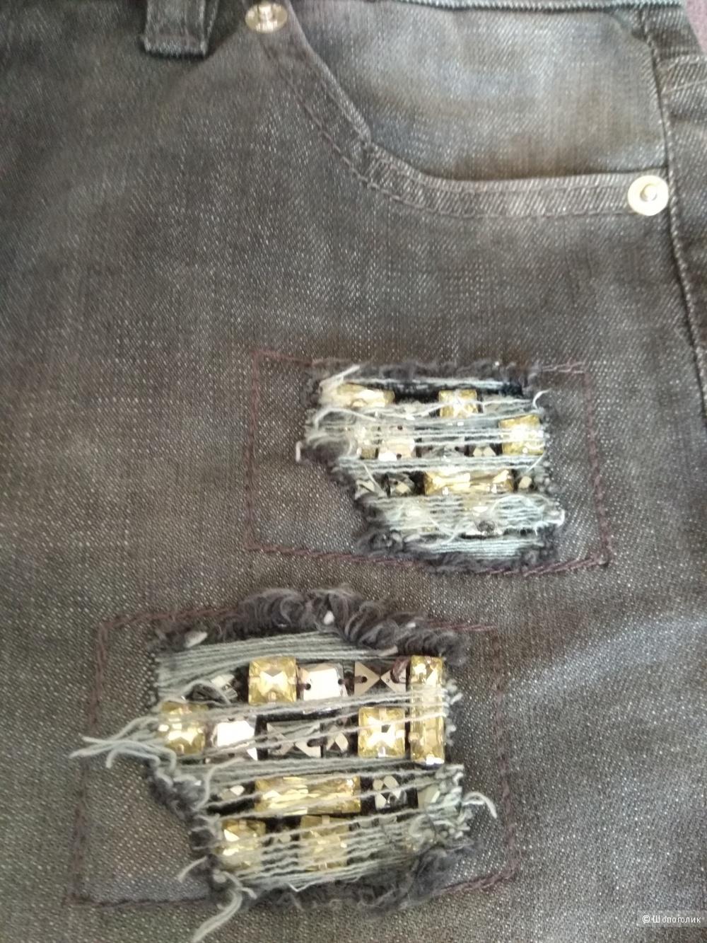 Джинсы с каменьями MICHAEL KORS 0us(25-26) джинсовый
