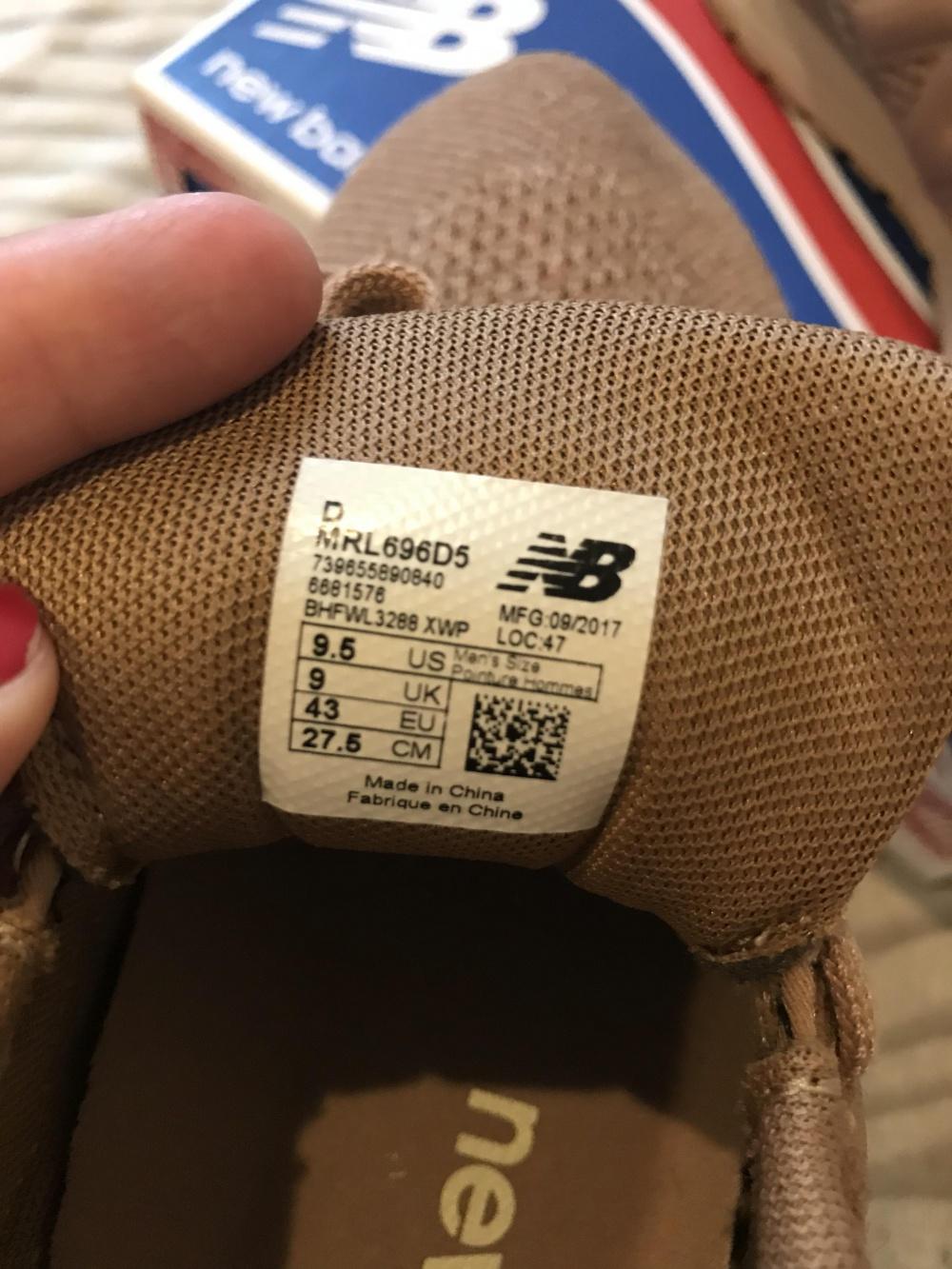 Кроссовки new balance 696, 9,5 размер