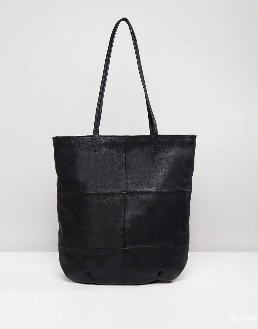 Новая кожаная сумка шоппер Asos