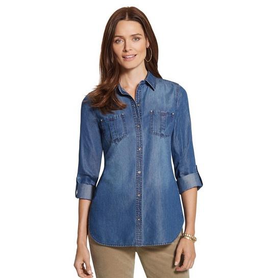 Джинсовая рубашка Chicos р 46-48