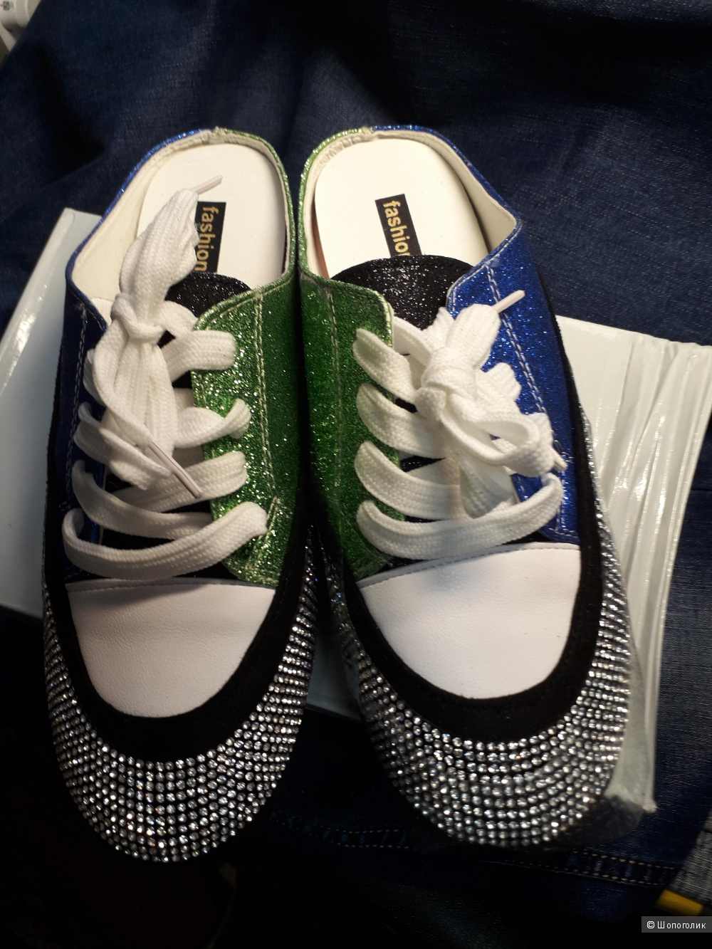 Кеды-мюли Fashion shoes  размер 25,0 (на 38 размер)