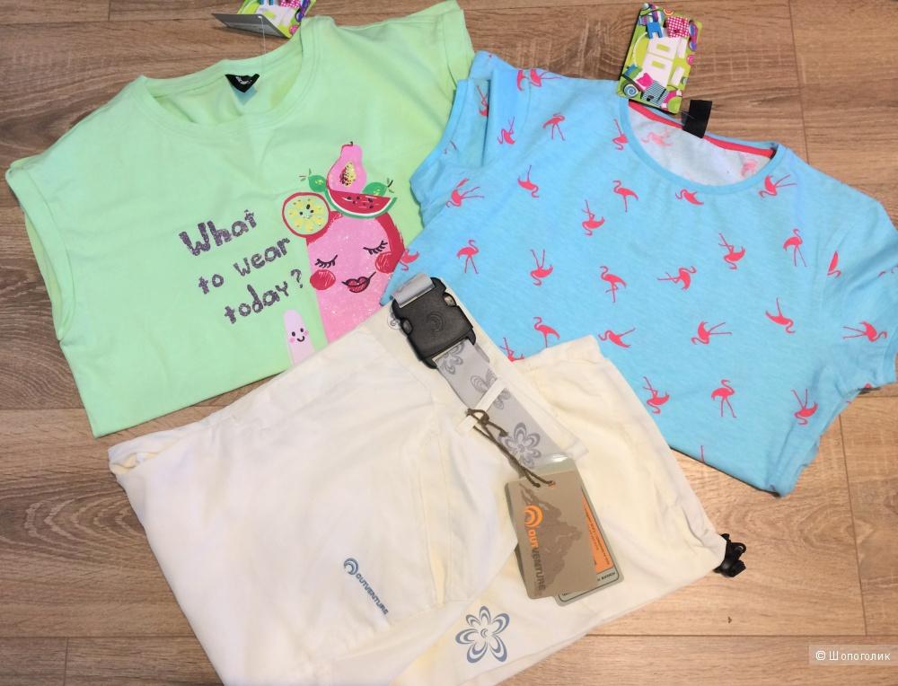 Сет: Капри Outventure и две футболки Acoola, 44