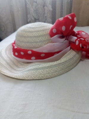 Соломенная шляпка. No name. Р-р 56