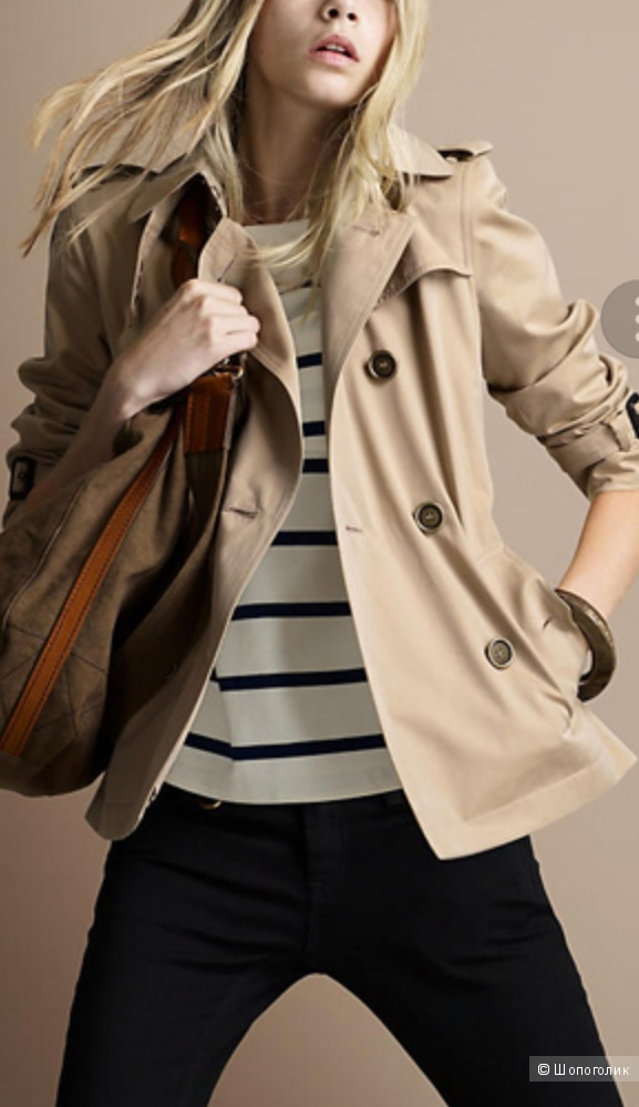 Devided by H&M :  cropped trench coat, 46-48