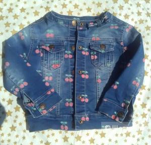 Джинсовая куртка для девочки 104 см Zusu