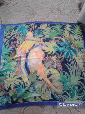 Платок шелковый ручная роспись ноунейм