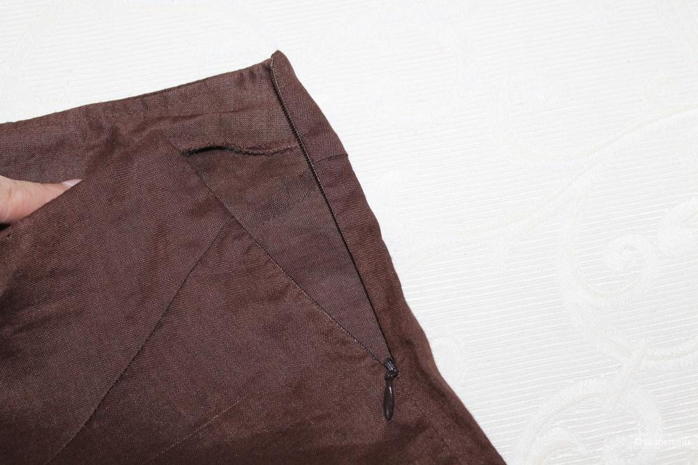 Льняные брюки - палаццо SISLEY, размер 46-48