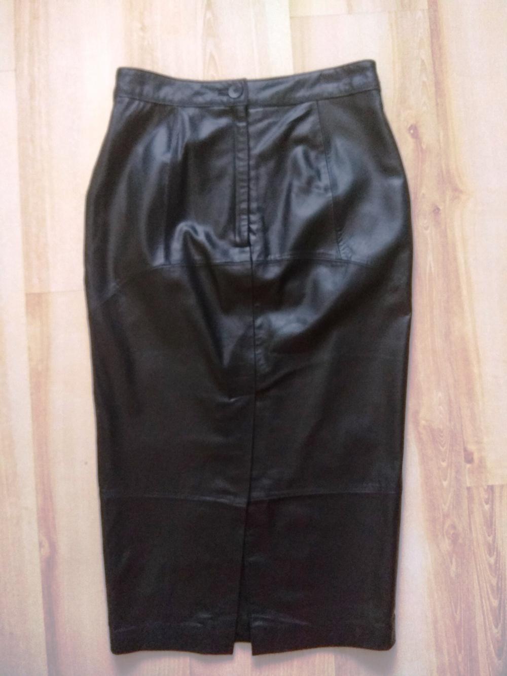 Кожаная миди-юбка Asos, размер UK10