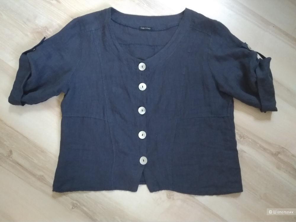 Льняной пиджак жакет 46-48 размер