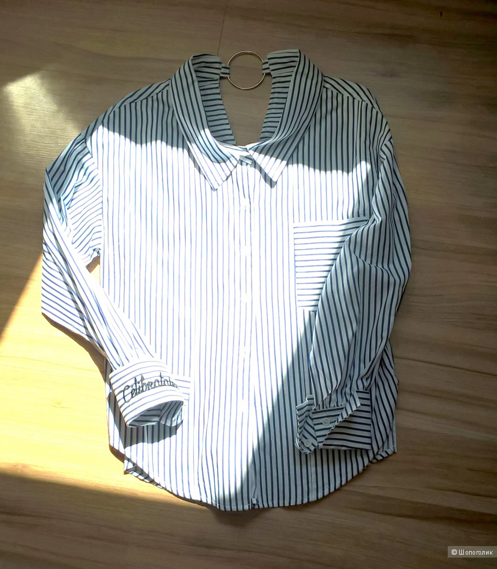 Рубашка в полоску, размер 44