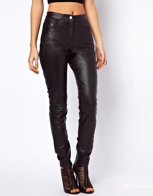 Кожаные брюки ASOS размер UK 12 eu 40 на рос. 46-48