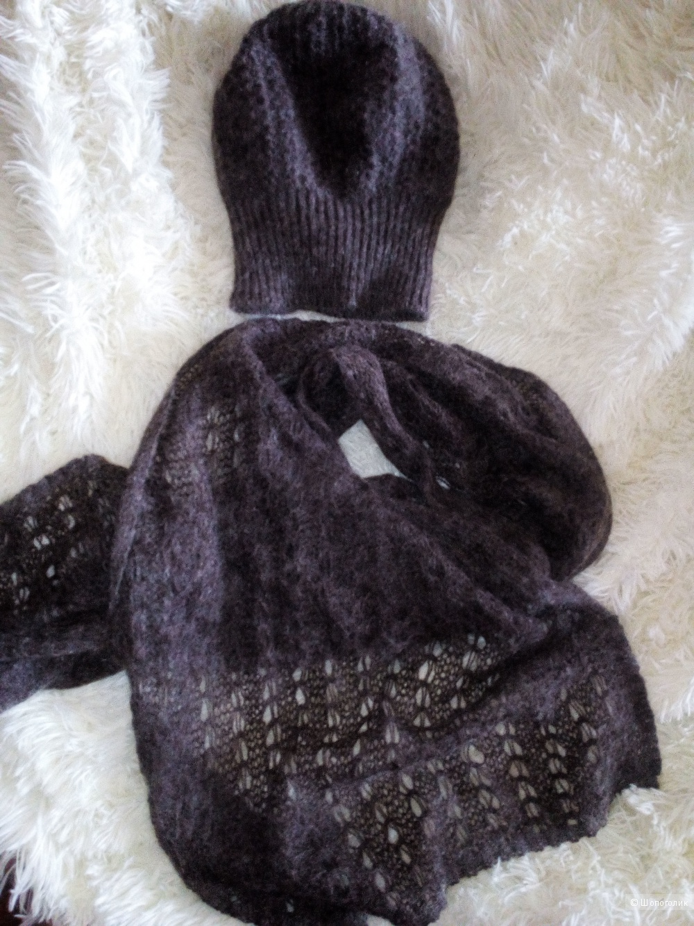 Комплект шапка+шарф, WoolStreet, one size