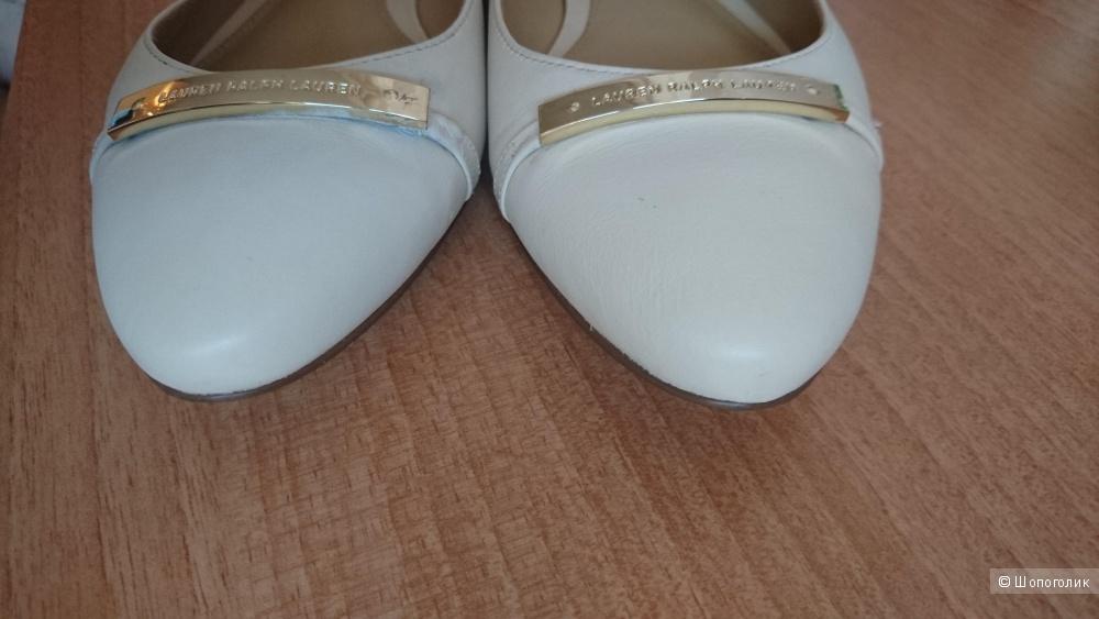 Женские кожаные балетки ralf Lauren,  38 размер