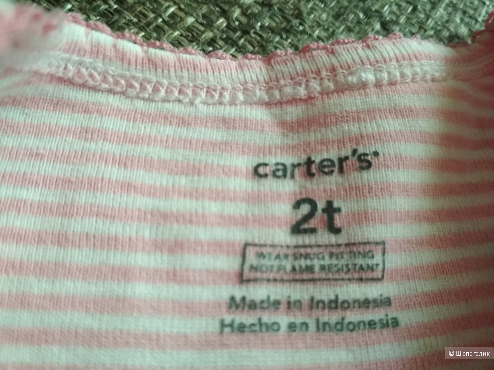 Пижама carter's 2t