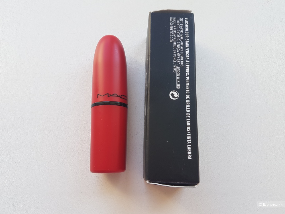 Губная помада MAC , matte lipstick, hot pepper