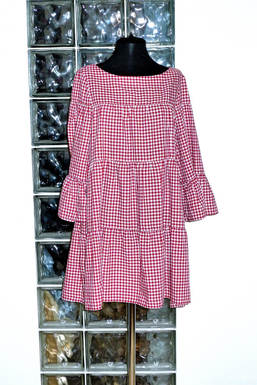 Платье в клетку ZARA размер S