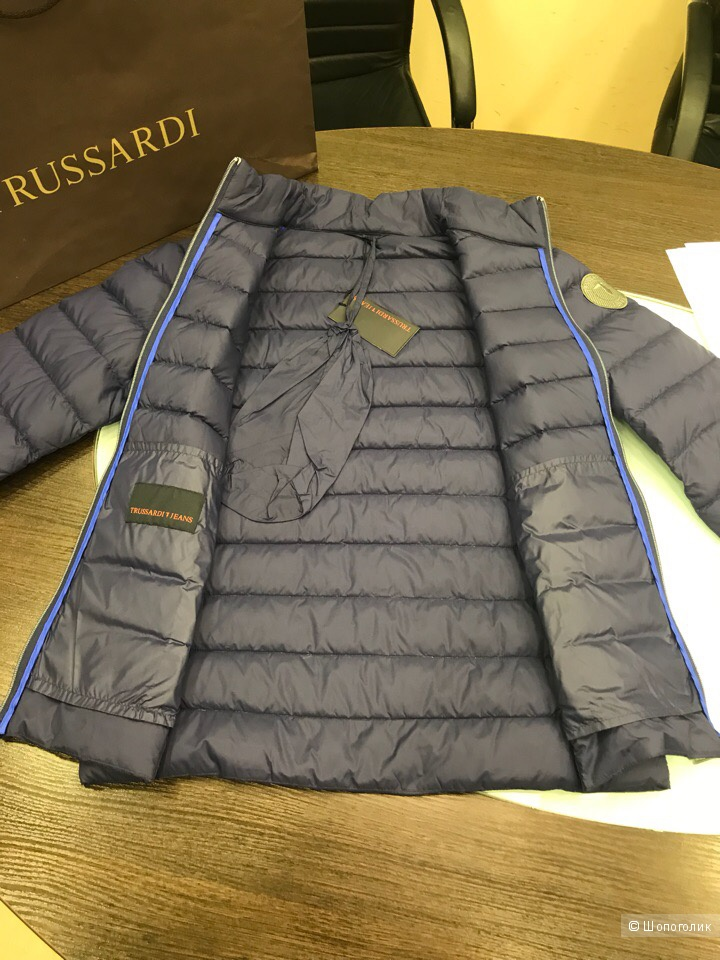 Мужской пуховик Trussardi Jeans, размер 50