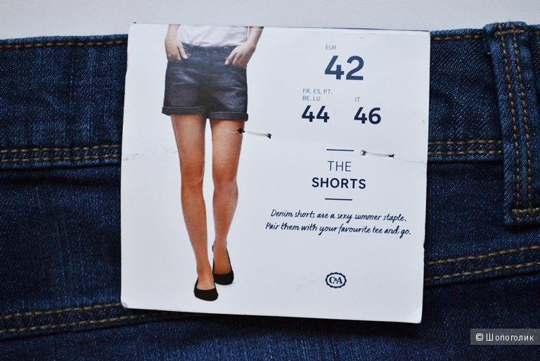 Джинсовые шорты C&A размер eur 42