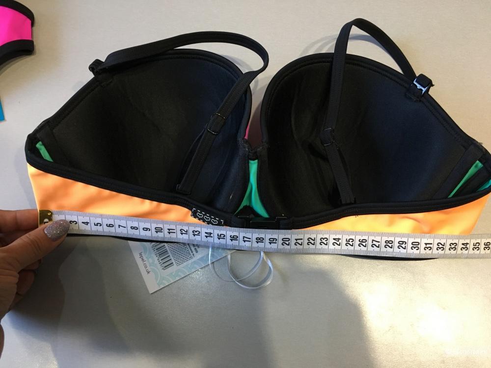 Трехцветный купальник Lepel swim. 36D/80D, 12UK. На рос. 48
