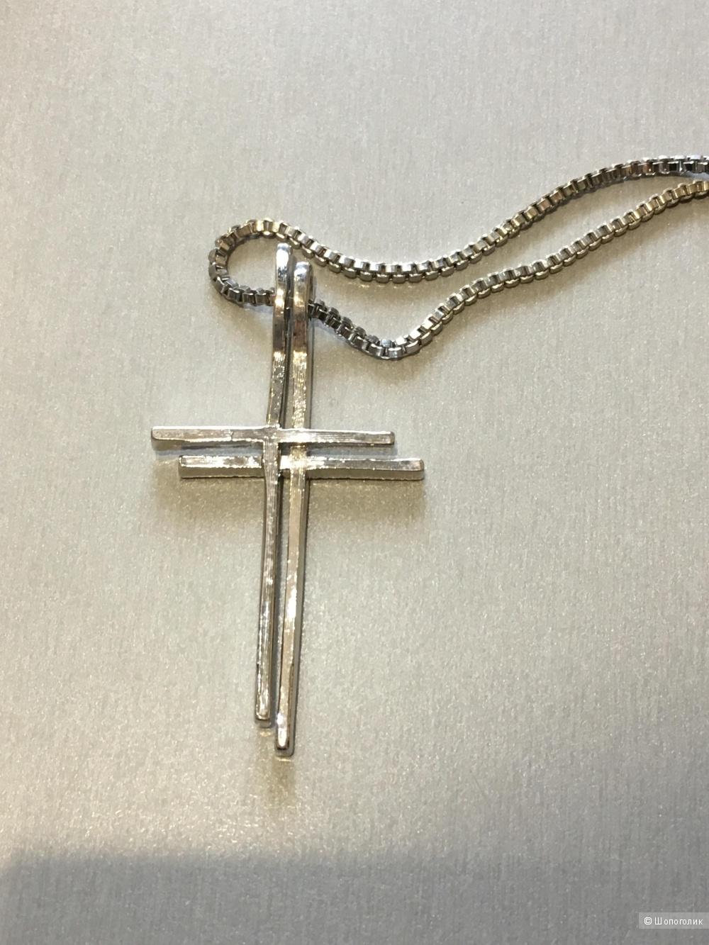 Двойной крест-подвеска на цепочке