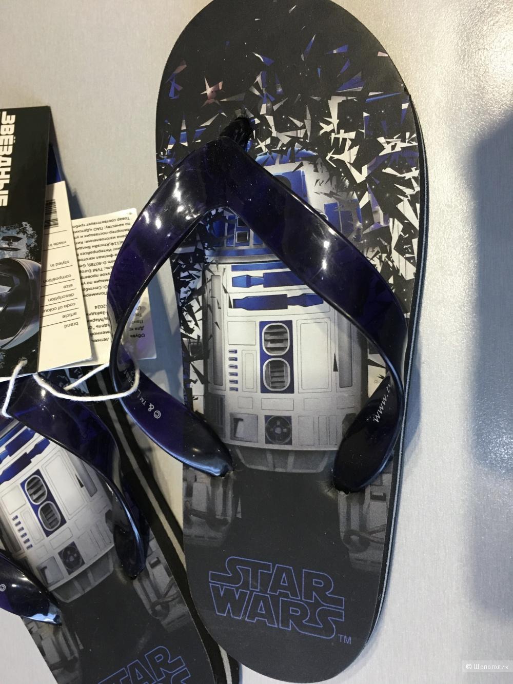 Пляжные шлепанцы на мальчика Star Wars. Размер 32, 21 см по стельке