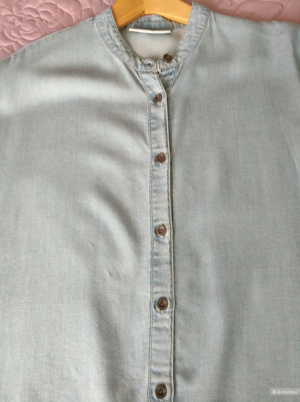 Джинсовая оversize рубашка Noisy May, XS