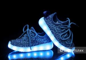 Светящиеся кроссовки, размер 33, 21 см по стельке
