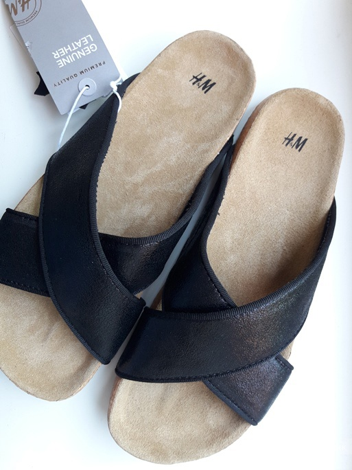 Шлепки кожаные H&M размер 37