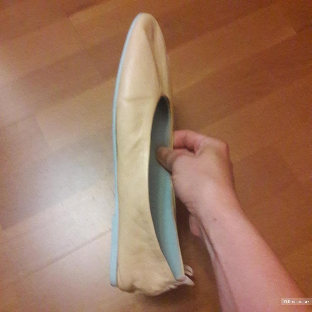 Кожаные балетки Strenesse Blue размер 40