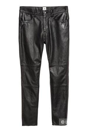Кожаные брюки H&MStudio 31 размер