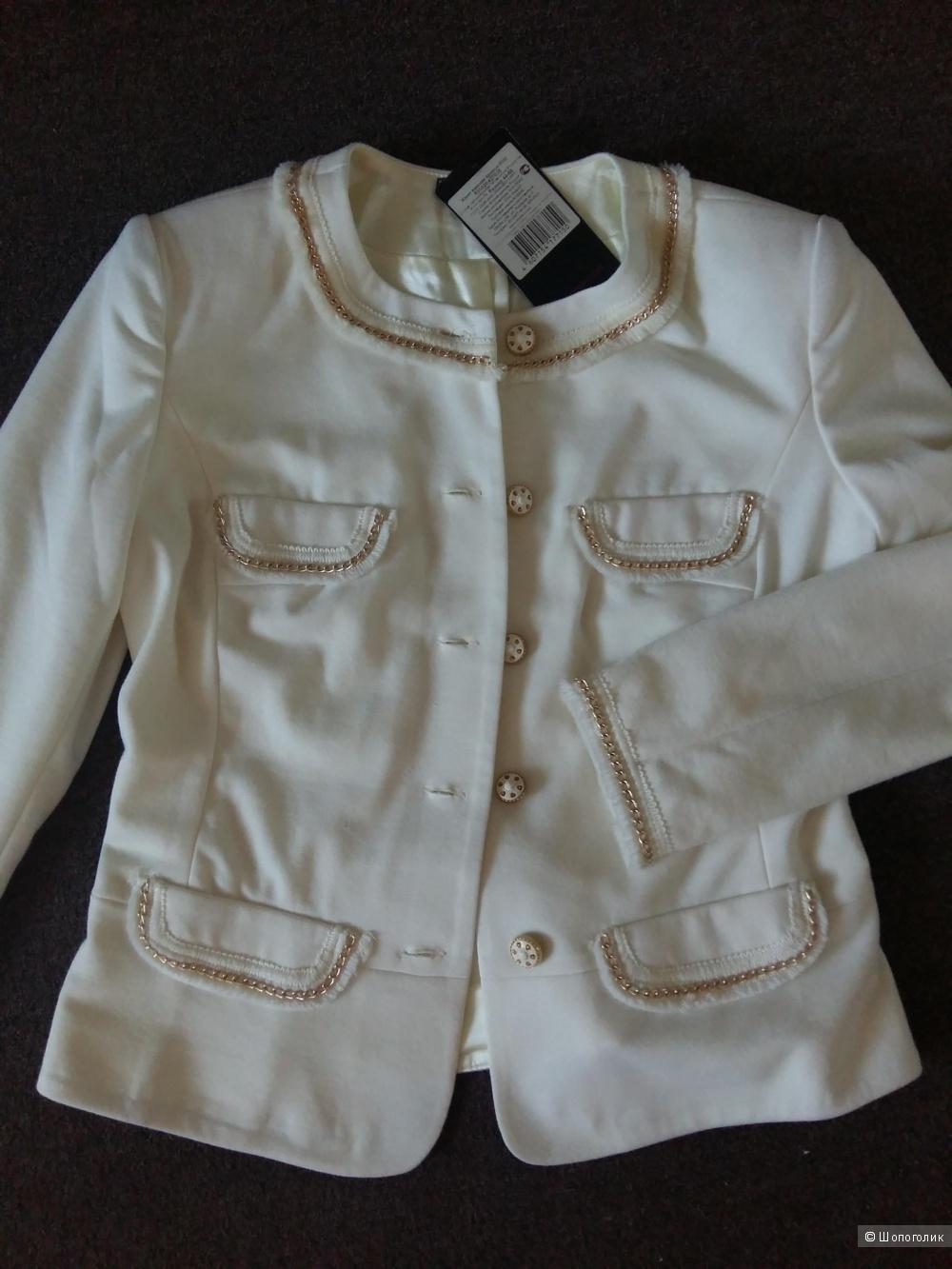 Белый жакет\ пиджак р.44-46 фирма Moda-L