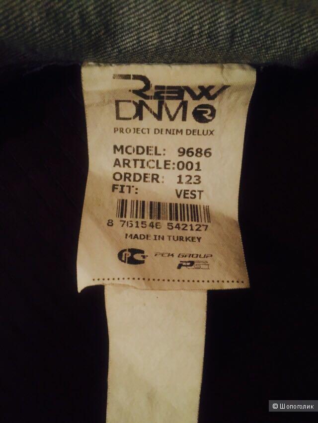 Джинсовый жилет RAW DNM, размер S
