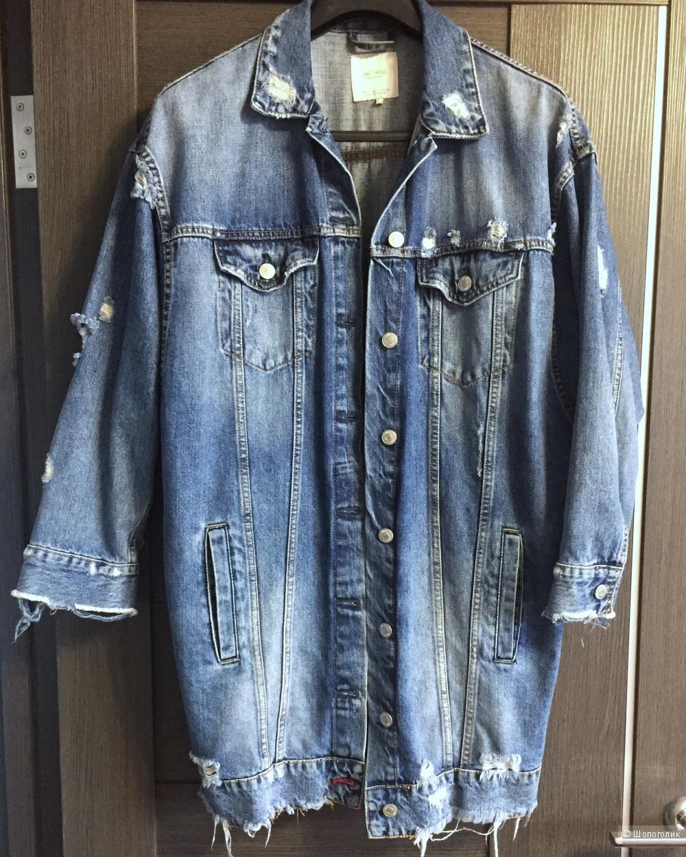 55156eea Джинсовая куртка Zara, размер S oversize, в магазине ZARA — на Шопоголик