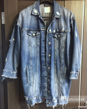 Джинсовая куртка Zara, размер S oversize