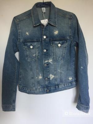 Джинсовая куртка hm размер 38