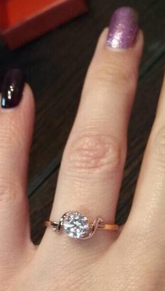 Кольцо, золото 585, размер 17
