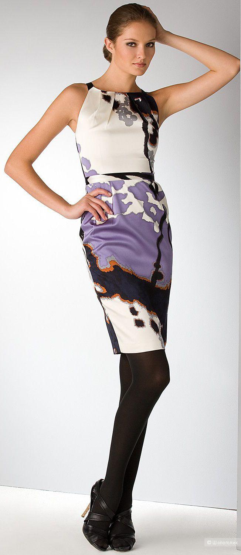 Шелковое платье Elie Tahari, размер S.