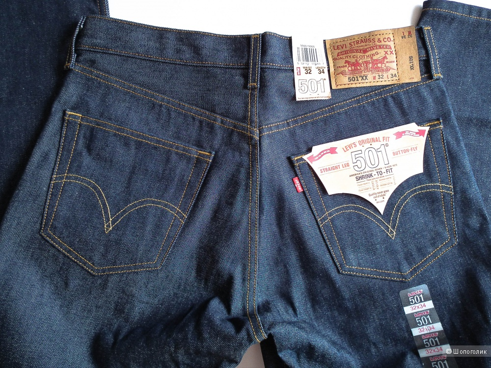 Мужские джинсы Levis 501 32/34