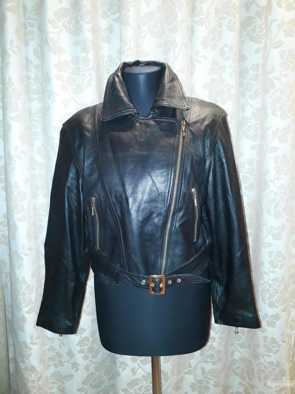 Кожаная куртка colebrook&co, размер 46-48
