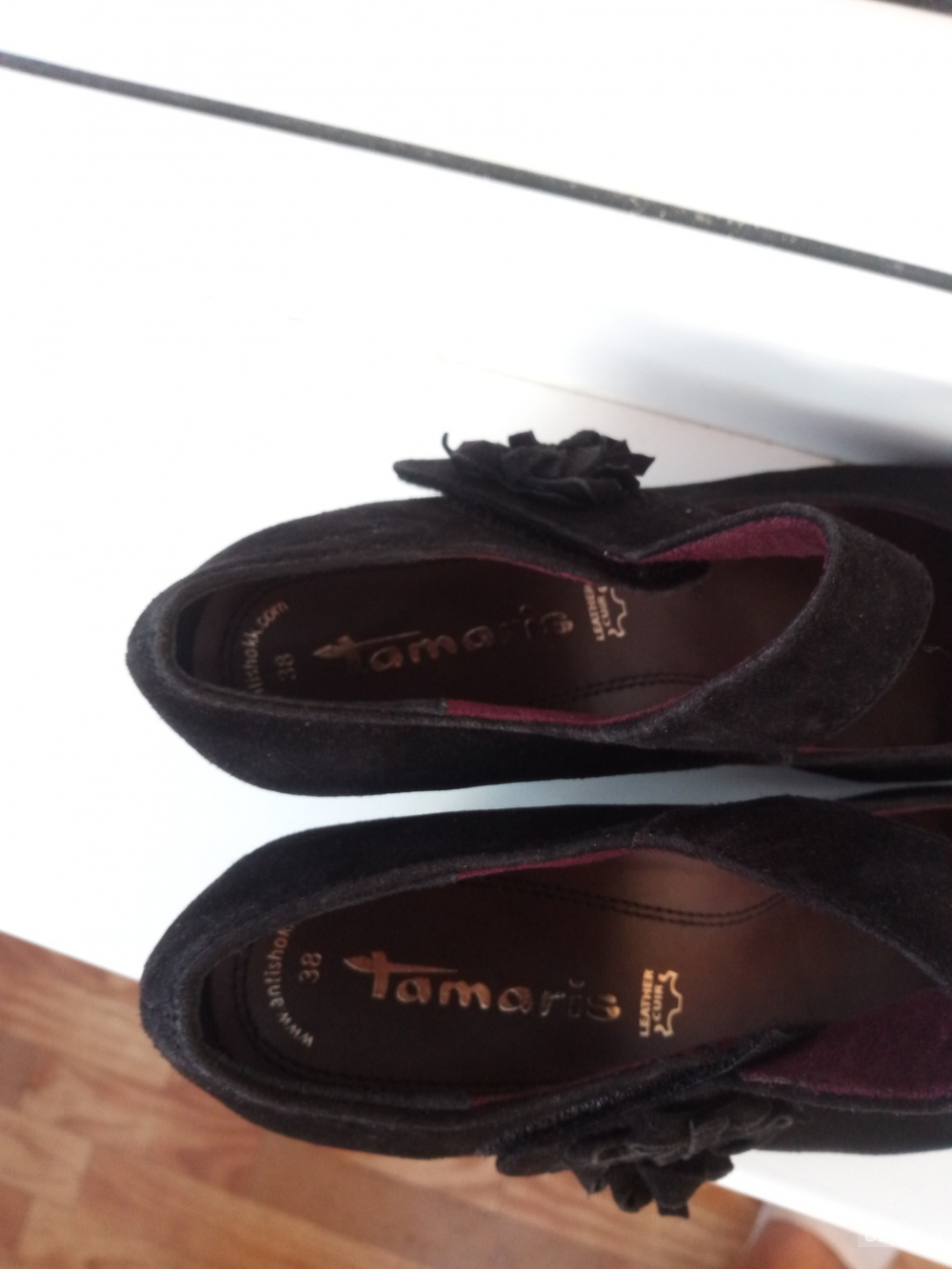 Туфли замшевые Tamaris р. 37-37,5