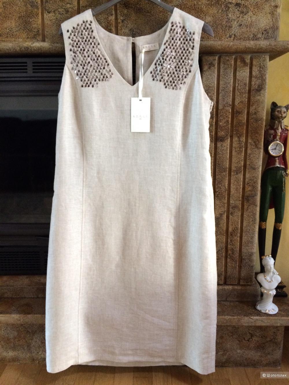 Льняное платье A.D.E.L.E. 1961,размер 48-50