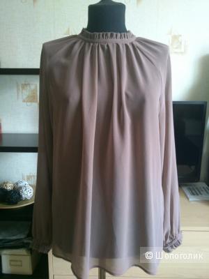 SISLEY, шифоновая блузка. Размер: на 46.